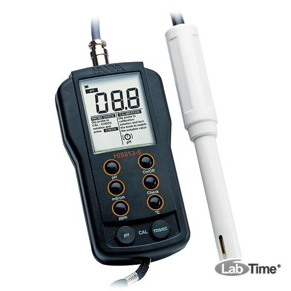 HI 9813-5 pH-метр/кондуктометр портативный водонепроницаемый (pH/EC/TDS/T)