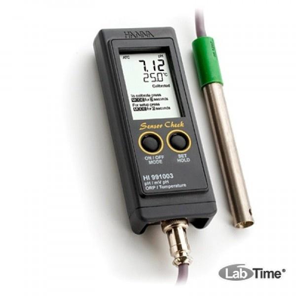 HI 991003 рН-метр/термометр/ОВП/милливольтметр портативный (pH/ORP/T)