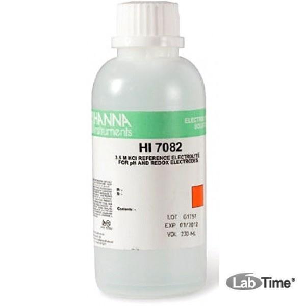 HI 7082 Электролит для заполнения электродов 3.5M KCl, упак. 4 шт. по 30 мл