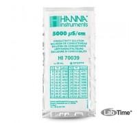 HI 70039P Раствор калибровочный 5000 мкСм/см упак. 25 шт. по 20 мл