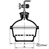 Эксикатор с краном 1-180 мм