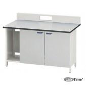 Стол для хроматографа с одной двойной тумбой ЛАБ-PRO СХ-Т1 150.80.90/105 LA (LAMINAT)