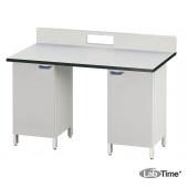 Стол для хроматографа с двумя одинарными тумбами ЛАБ-PRO СХ-Т2 150.85.90/105 LA (LAMINAT)