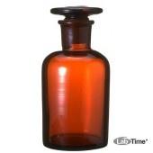 Бутыль для реактивов 250 мл темное стекло, узкая горловина