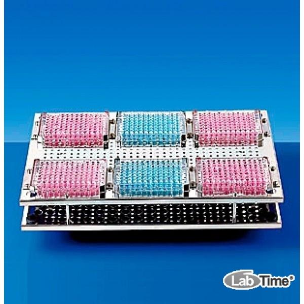Штатив для 6 микропланшетов, нерж.сталь