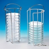 Штатив для чашек Петри малый, 10 чашек Петри диам. 60–100 мм