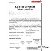 Сертификат заводской калибровочный по температуре +18, +25 град С