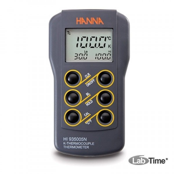 HI 935005 Термометр портативный 2-х диапазонный водонепроницаемый (без датчика)